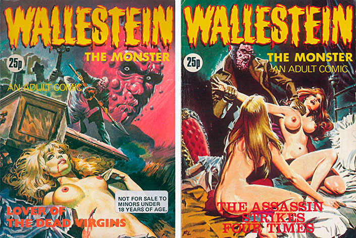 Wallestein the Monster in English, Lover of the Dead Virgin and the Assassin strikes Four Times